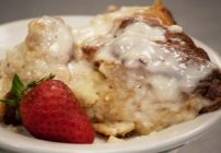 The Best Bread Pudding Recipe with Cream Cheese Frosting