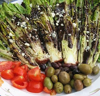It Must be Summer…….Grilled Romaine Salad, Lobster & Shrimp