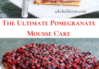 Pinterest image for the Ultimate Pomegranate Mousse Cake