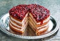 pomegranate mousse cake