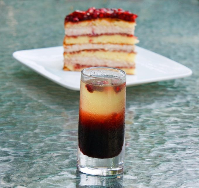 Pom Sunrise, Pomegranate Mousse Cake