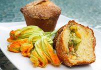 Squash Blossom Muffins & Chicken and Shrimp Riviera