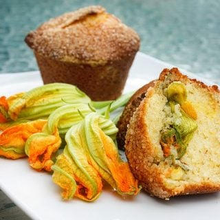 Squash Blossom Muffins & Chicken and Shrimp Riviera