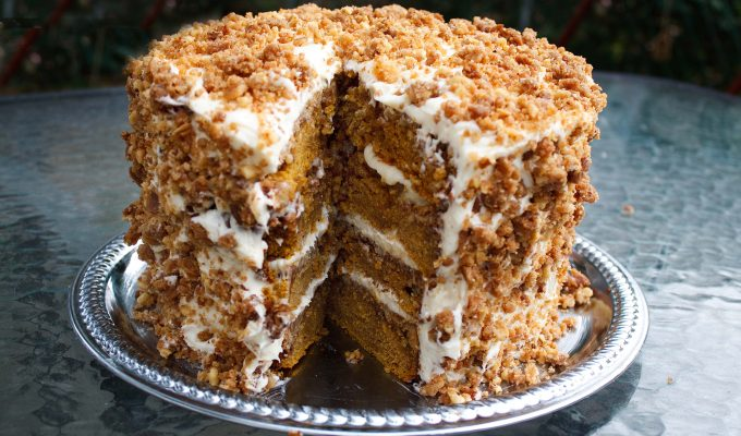 It's The Great Pumpkin Crunch Cake Charlie Brown!!