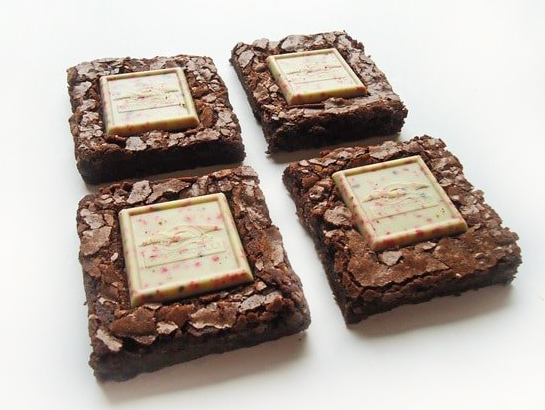 4 Dark Chocolate Peppermint Bark Brownies