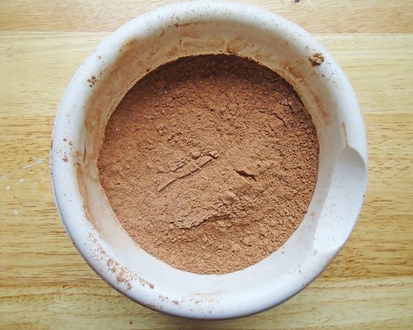 bowl of dry ingredients to make brownies