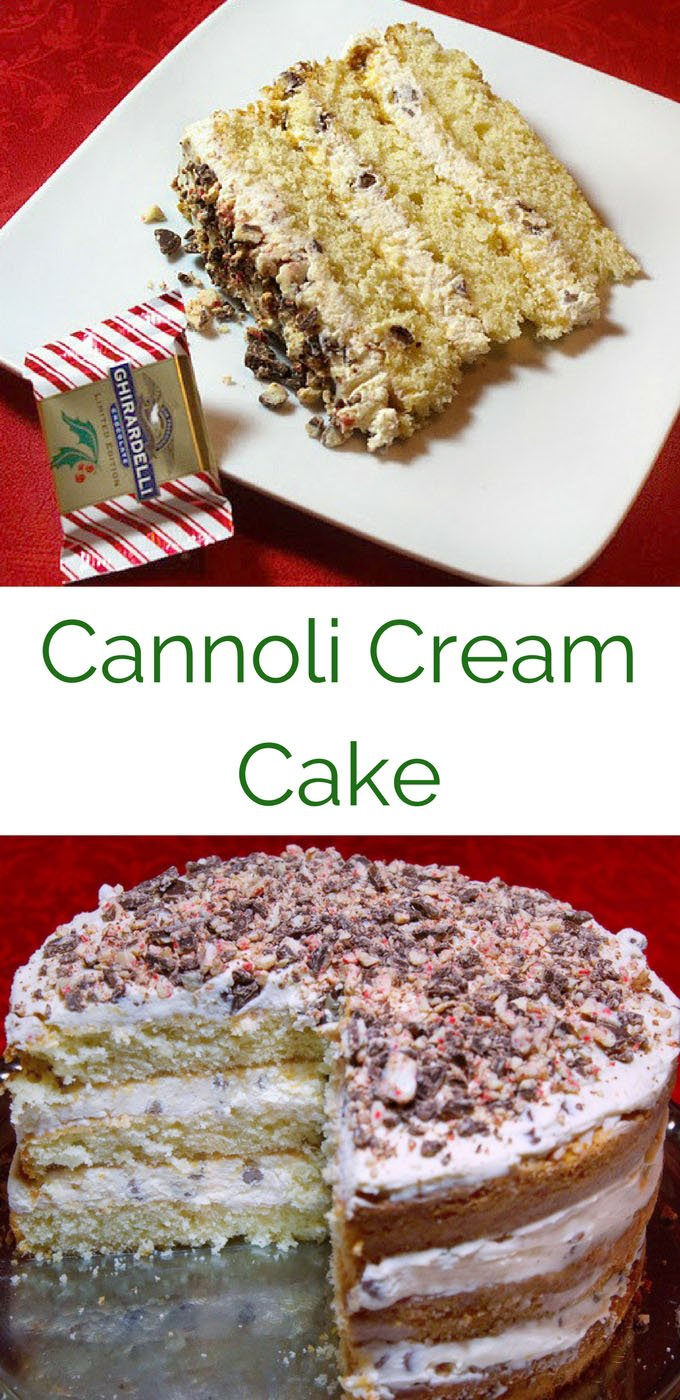 cannoli cream cake