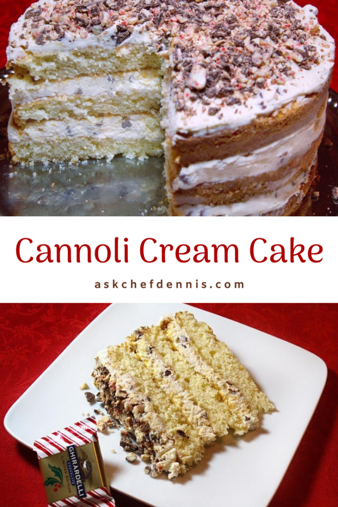Pinterest Cannoli Cream Cake