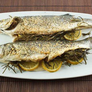 Roasted Branzino…..aka Mediterranean Sea Bass He Sleeps with the Fishes