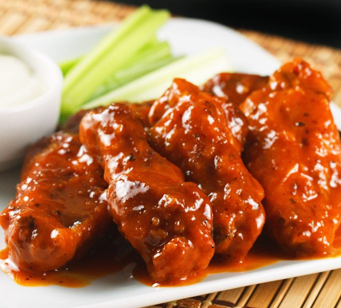 buffalo-wings with home made bleu cheese dressing