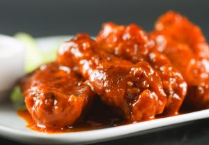 Appetizers, buffalo-wings with home made bleu cheese dressing