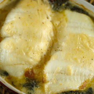 Stuffed Flounder Florentine with a Mornay Sauce