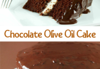 Pinterest image for chocolate olive oil cake