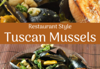 pinterest image for tuscan mussels