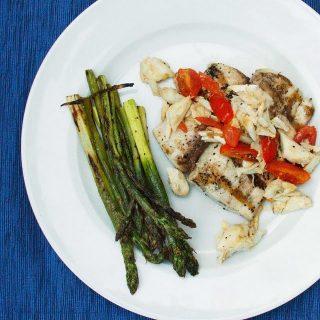 Grilled Mahi-Mahi with Crab Meat Scampi