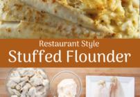 pinterest image for stuffed flounder