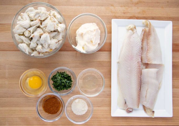 ingredients to make stuffed flounder