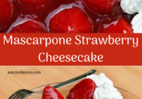 pinterest image for Mascarpone Strawberry Cheesecake
