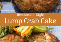 Pinterest image for lump crab cake