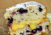 Blueberry Lemon Cake for our Vintage Recipe Swap