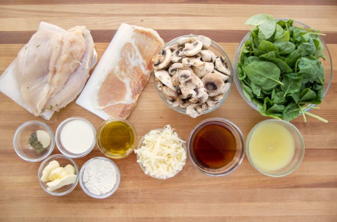 ingredients to make chicken saltimbocca