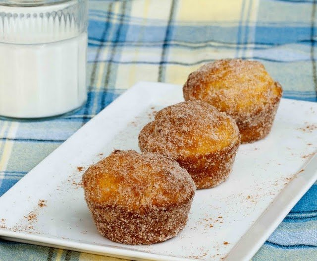 Doughnut Muffins for our Vintage Recipe Swap