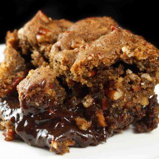 The Best Ooey Gooey Black Bottom Praline Brownie Bar Recipe