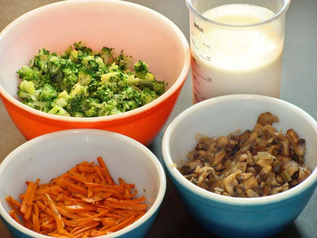 veggie muffin ingredients