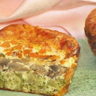 layered veggie muffin
