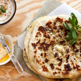 Aalu Methi Naan aka Stuffed Naan Bread with Sunshine and Smile