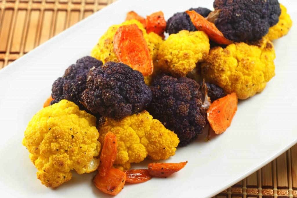 Purple cauliflower , Orange Cauliflower and carrots