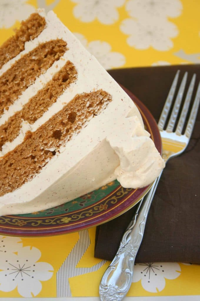 Spiced Pumpkin Cake And Cinnamon Buttercream Frosting Recipes ...
