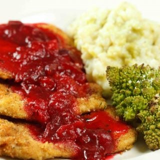 Turkey Milanese, Cranberries with Two Sides of Romanesco
