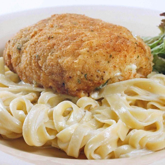 Chicken Venetian with Fettuccine Alfredo
