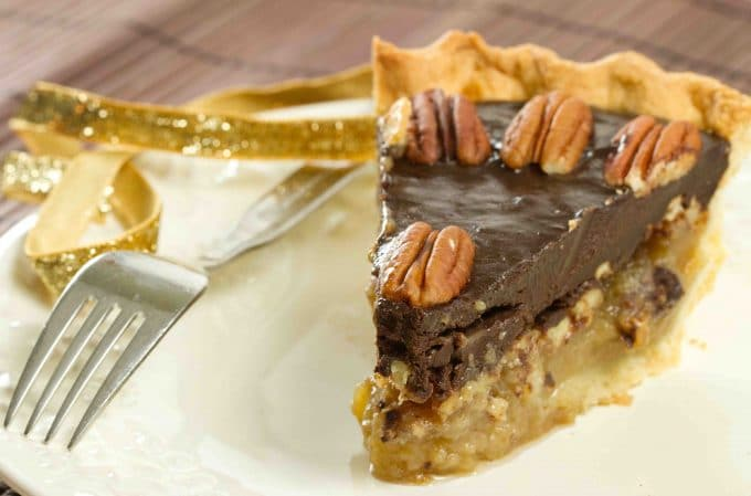 Chocolate Pecan Pie Bourbon pecan pie with