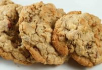 close up of oatmeal granola cookies