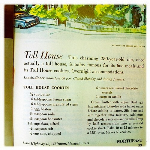 picture of the recipe for Toll House cookies from cookbook