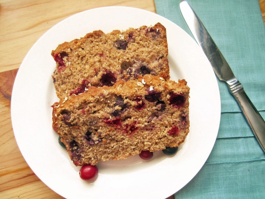 Berry Citrus Bread on a white plate
