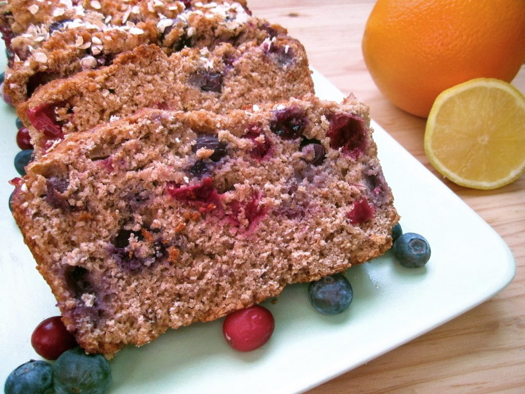 berry citrus bread with eat drink love