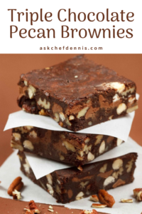 Triple chocolate brownies pinterest image