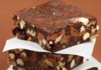 Triple chocolate brownies pinterest image
