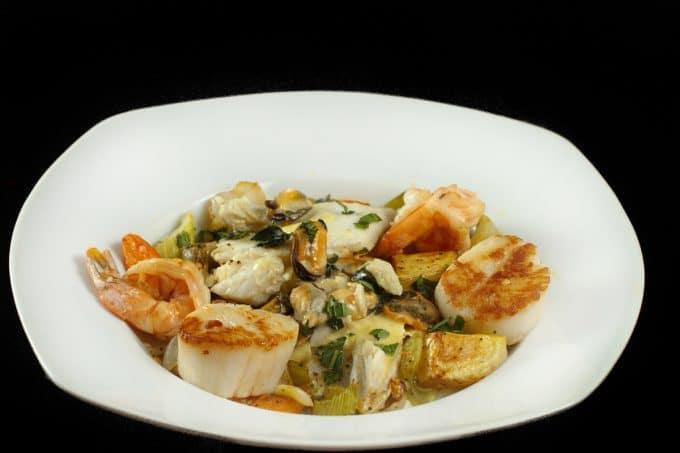 Ligurian Seafood Stew with a Basil Saffron Creme Sauce -In My ...