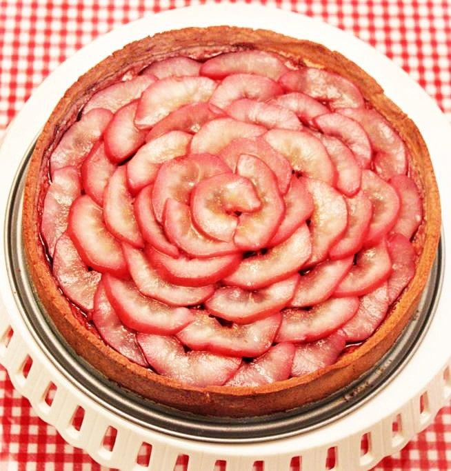 poached pear zinfandel tart