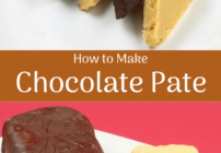 pinterest image for chocolate pate
