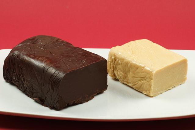 White Chocolate Pate  and Semi Sweet Chocolate Pate