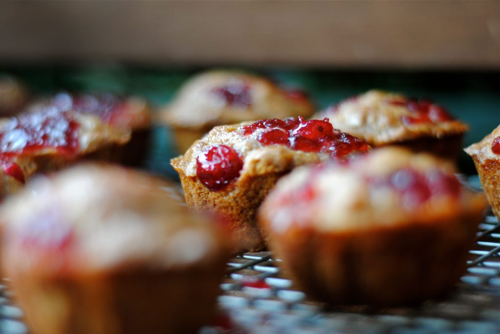 cranberry sauce muffin