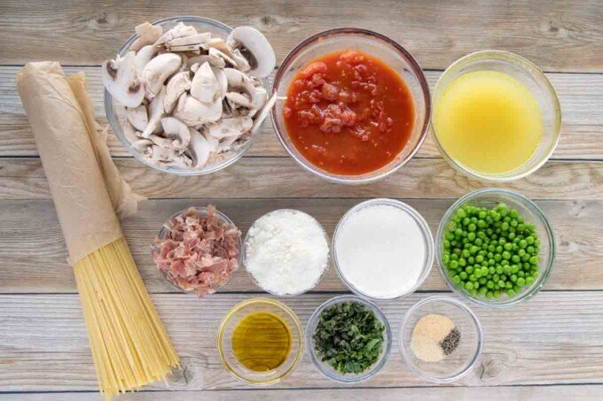ingredients to make spaghetti D'angelo