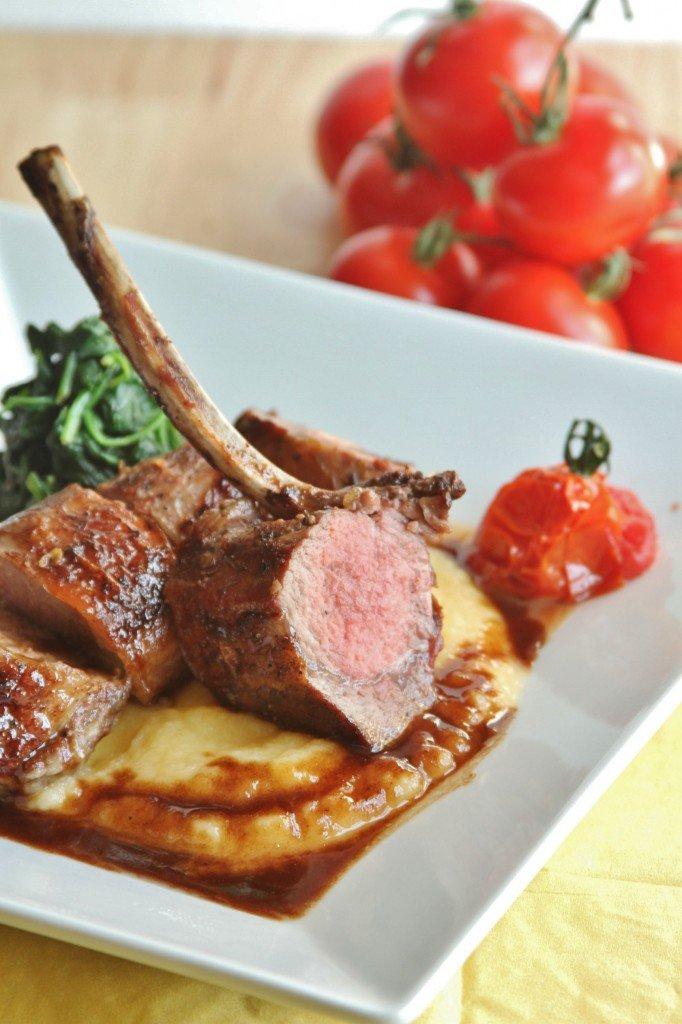 lamb with spinach tomatoes and rutabaga