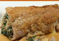 pinterest image for stuffed pork tenderloin