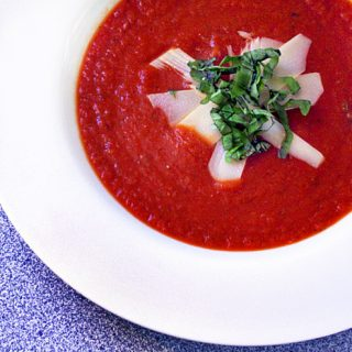 Slow Cooker Tomato-Basil Soup with Rosemarried
